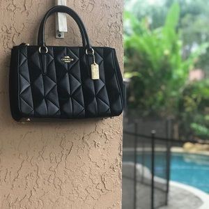 NEW Coach Mixed Material Patchwork Surrey Carryall